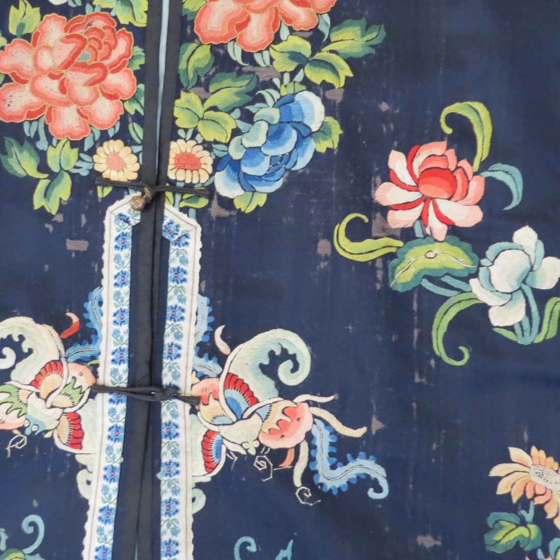 Three Chinese Embroidered Silk Robes. - 7