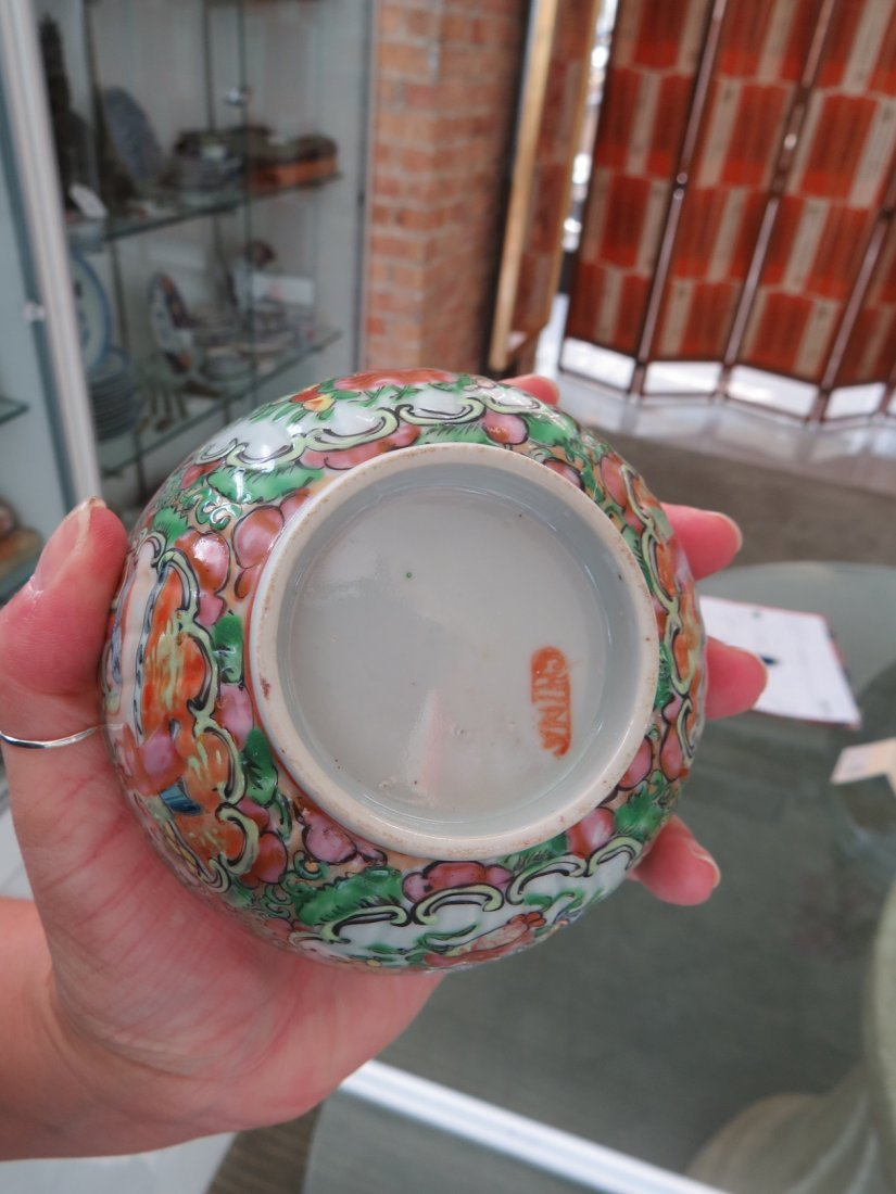 A Collection of Chinese Rose Medallion Tea Service. - 10