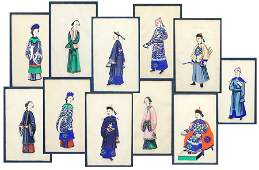A Collection of Eleven Chinese Pith Portraits
