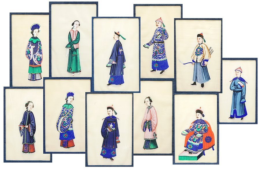 A Collection of Eleven Chinese Pith Portraits.