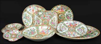 A Collection of Chinese Rose Medallion Porcelain