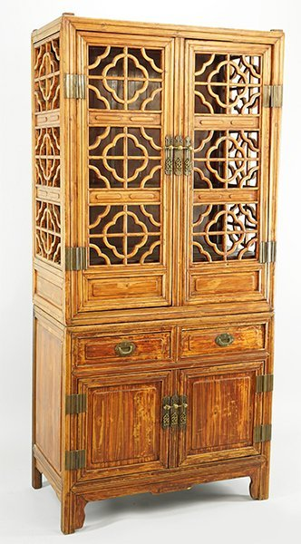 A Chinese Elmwood Cabinet.