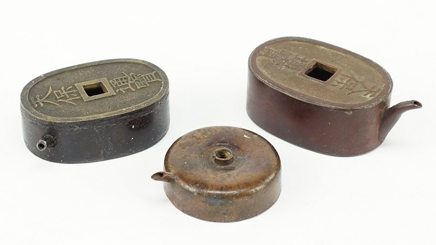 Three 20th Century Japanese Bronze Water Droppers.