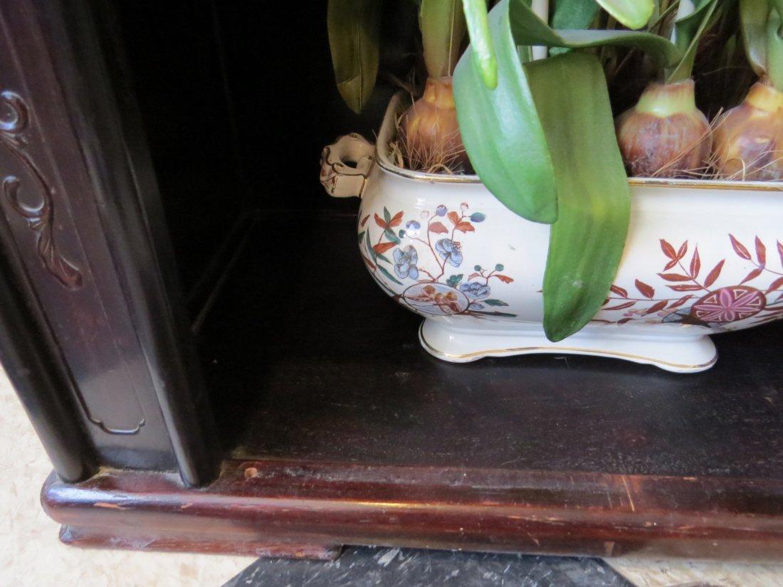 A Chinese Ebonized Wood Etagere. - 5