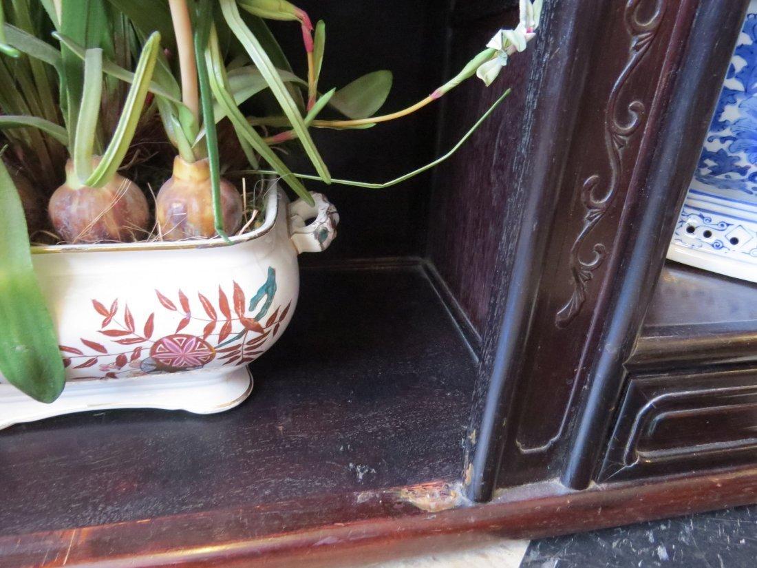 A Chinese Ebonized Wood Etagere. - 6