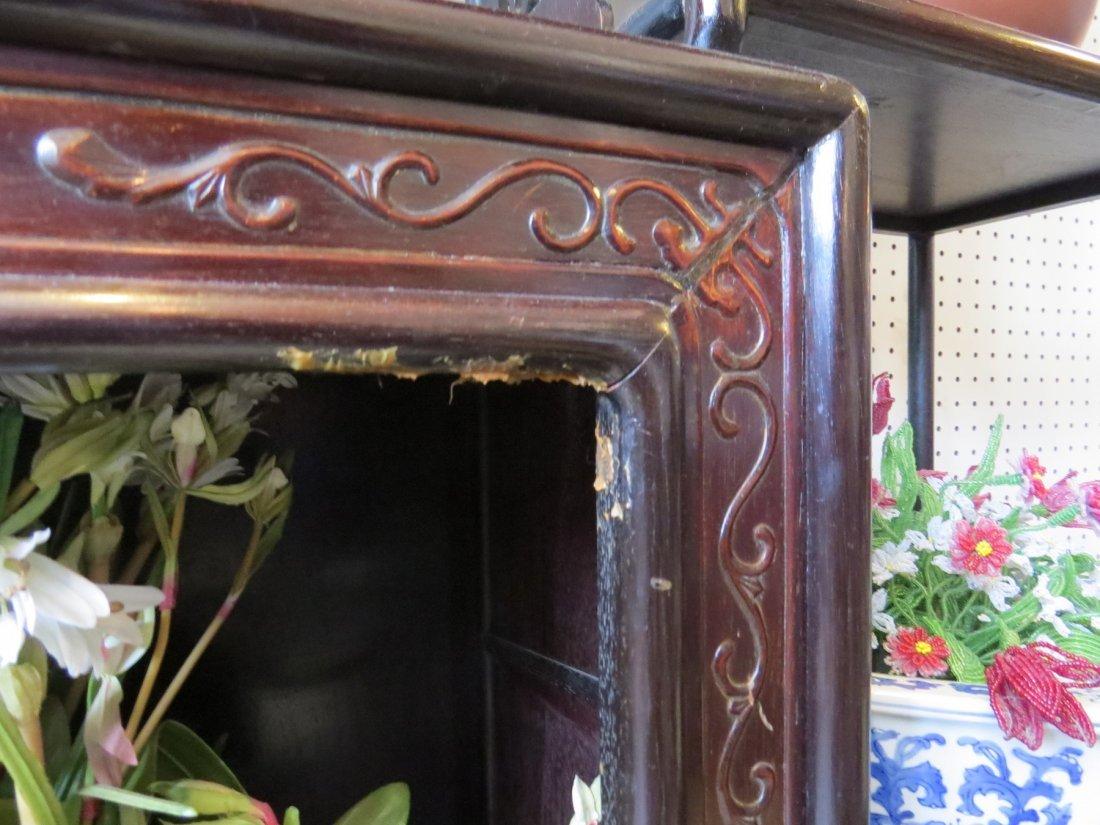 A Chinese Ebonized Wood Etagere. - 7