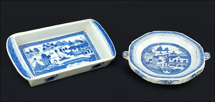 A Chinese Canton Porcelain Hot Water Dish.