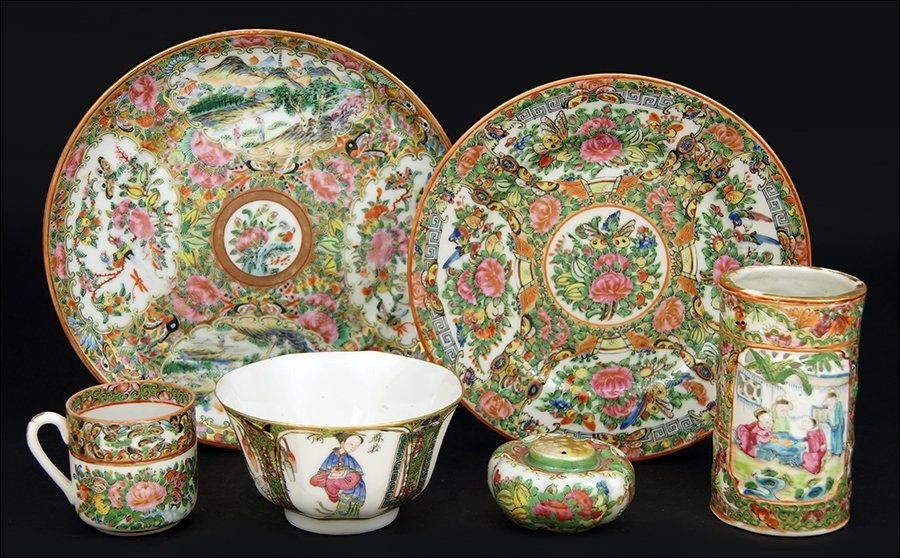 A Collection of Chinese Rose Medallion Porcelain.