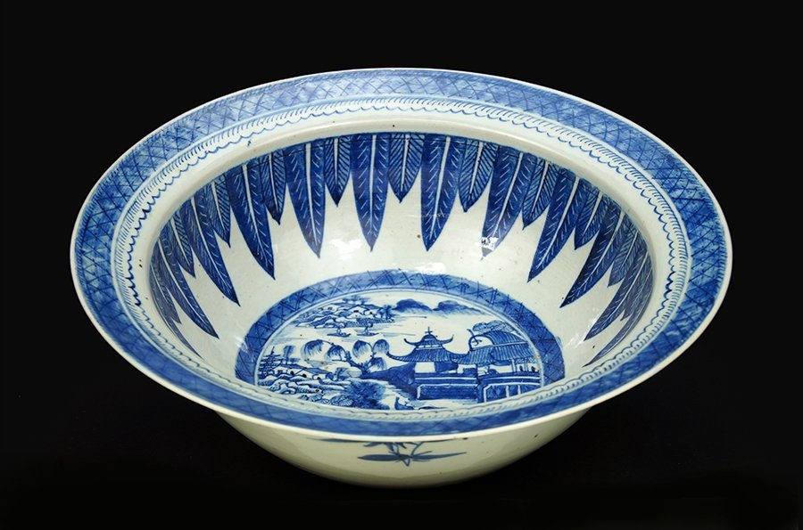 A Chinese Canton Porcelain Punch Bowl.