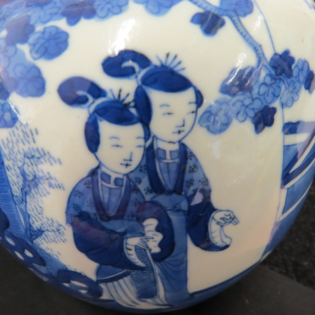 A Pair of Chinese Blue and White Porcelain Ginger Jars. - 6
