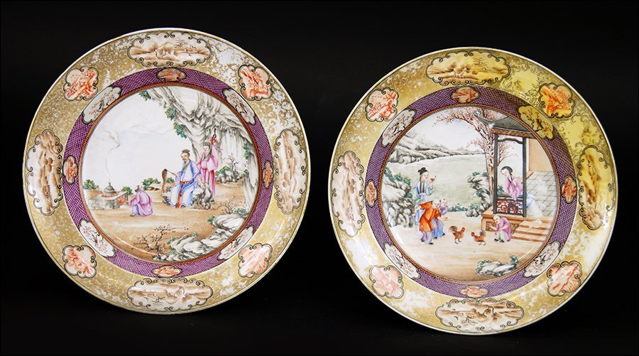 Two 18th Century Chinese Export Plates.