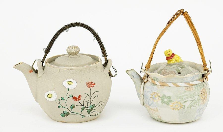 Two Late 19th Century Japanese Bonko Ware Pottery