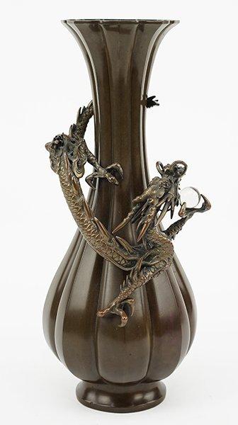 A 19th Century Japanese Bronze Vase.