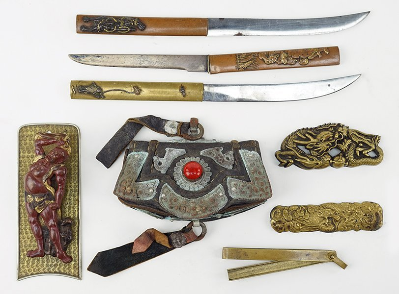 A Group of 18th and 19th Century Asian Items.