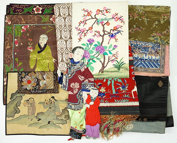 A Group of Asian Textiles.