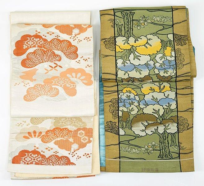 Two 20th Century Japanese Silk Obis.