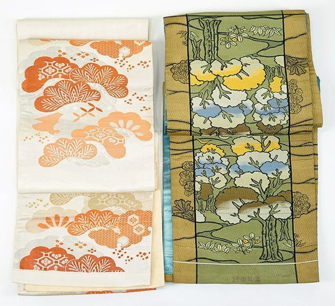 Two 20th Century Japanese Silk Obis.