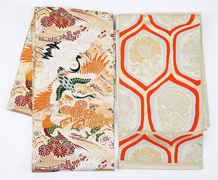 Two 20th Century Japanese Silk Brocade Obis.
