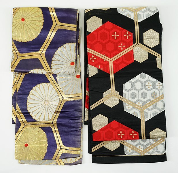 Two 20th Century Japanese Silk Brocade Obs.