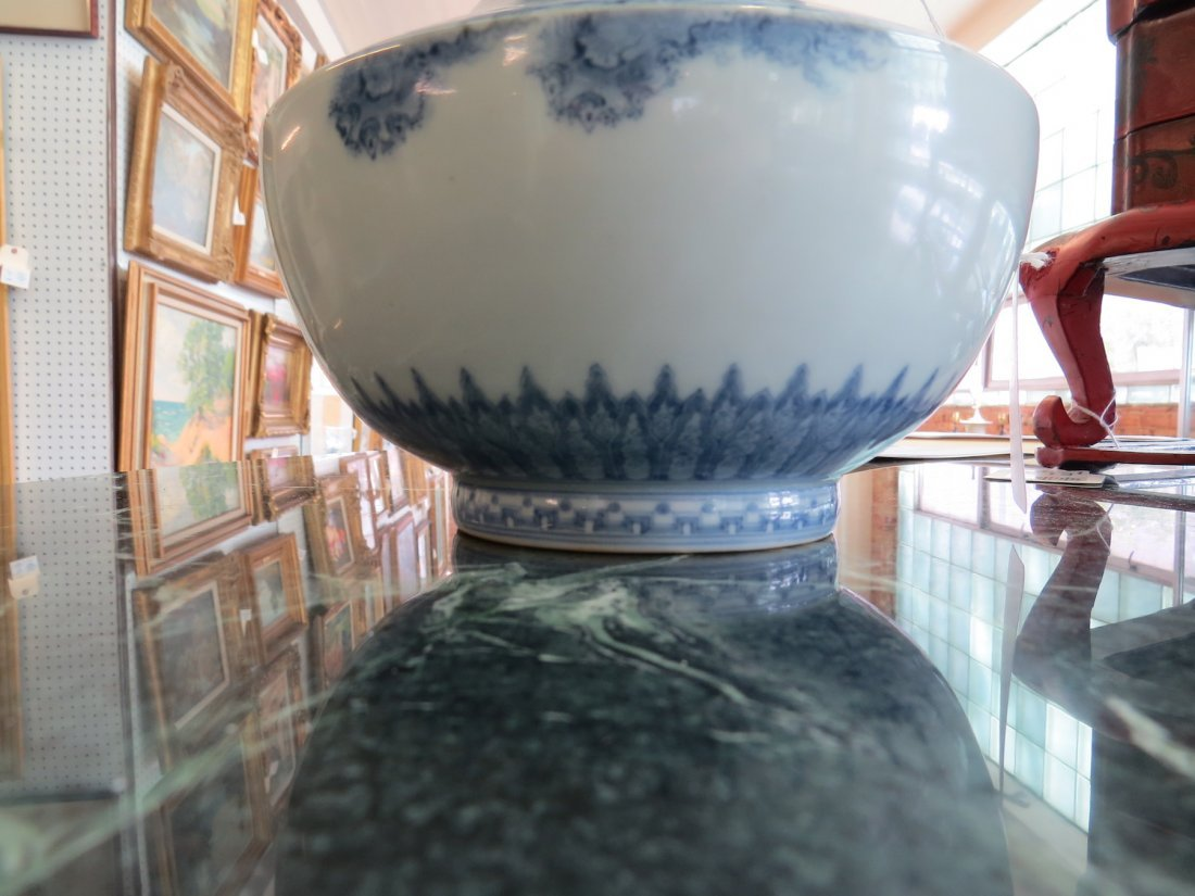 A 19th Century Japanese Blue and White Porcelain Vase. - 6