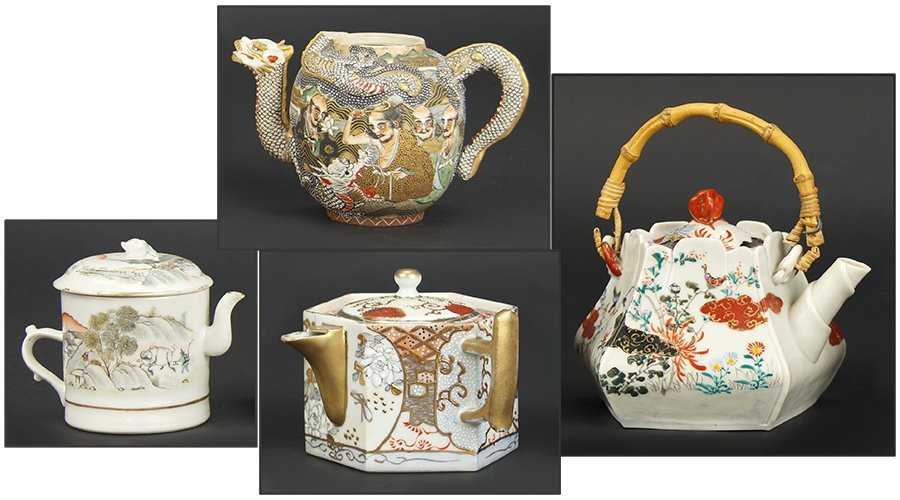 A Group of Four Teapots.
