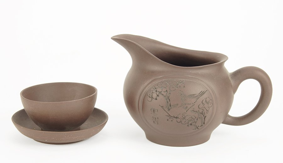 A Chinese Yixing Stoneware Partial Tea Service.