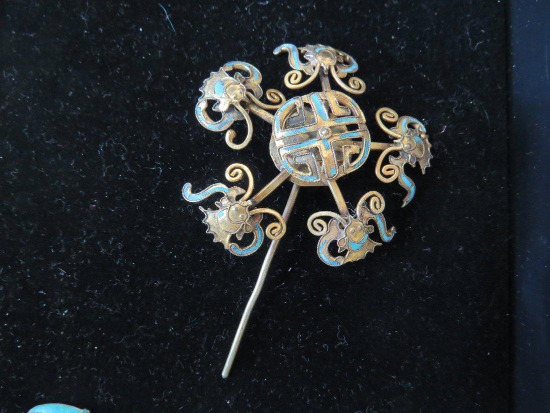 Four Chinese Hair Pins. - 2