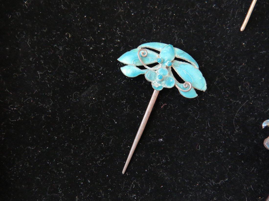 Four Chinese Hair Pins. - 3