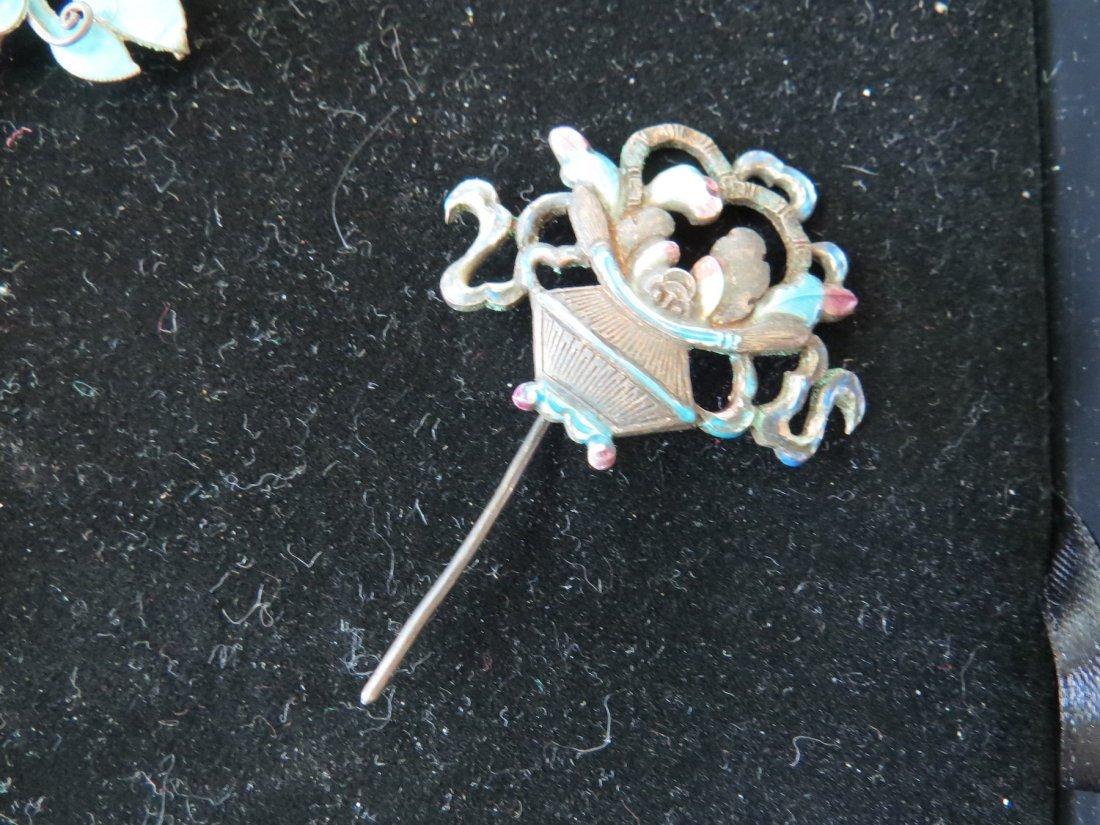Four Chinese Hair Pins. - 4
