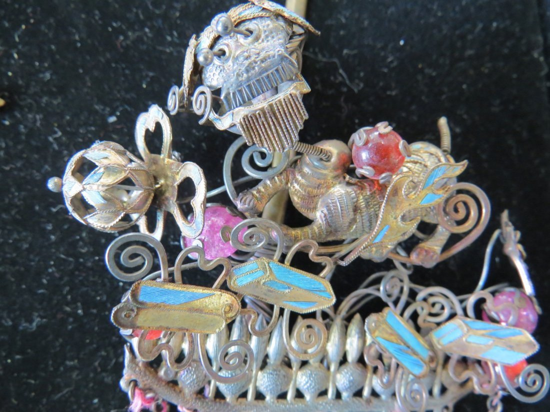 Four Chinese Hair Pins. - 5