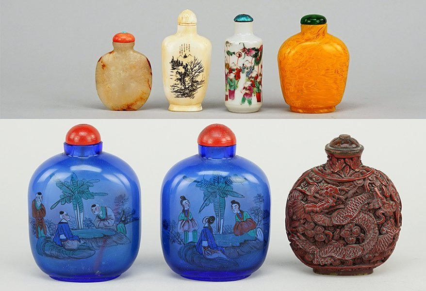 A Collection of Chinese Snuff Bottles.