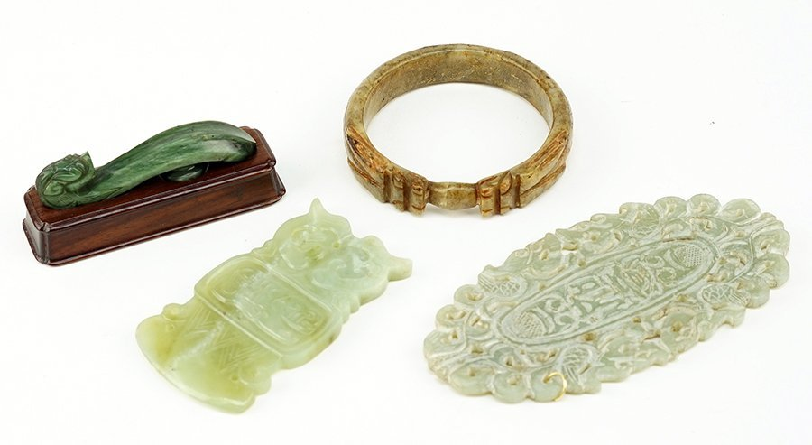 A Chinese Carved Jade Buckle.