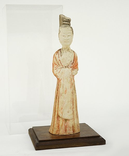 A Chinese Tang Dynasty Pottery Figure.