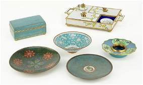 A Collection of Chinese Cloisonne Table Articles