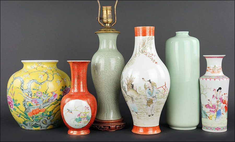 A Collection of Chinese Porcelain Vases.