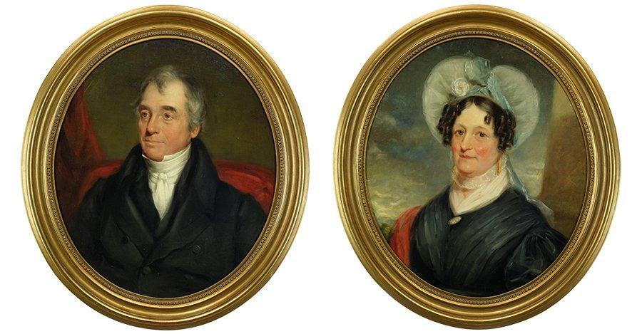 American School (1st Half 19th Century) Two Portraits.