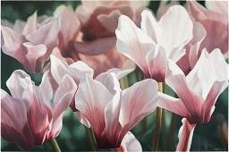 Winifred Godfrey (American, B. 1944) Pink Cyclamen.