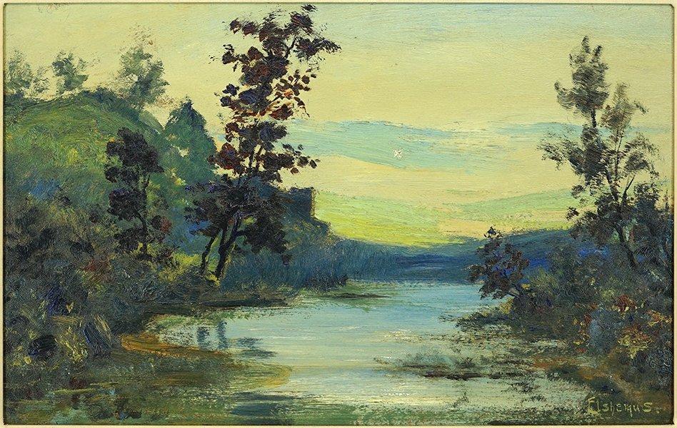 Louis Eilshemius (American, 1864-1941) Landscape.