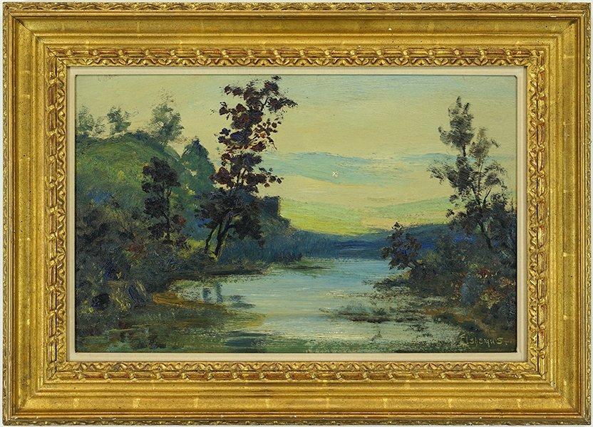 Louis Eilshemius (American, 1864-1941) Landscape. - 3