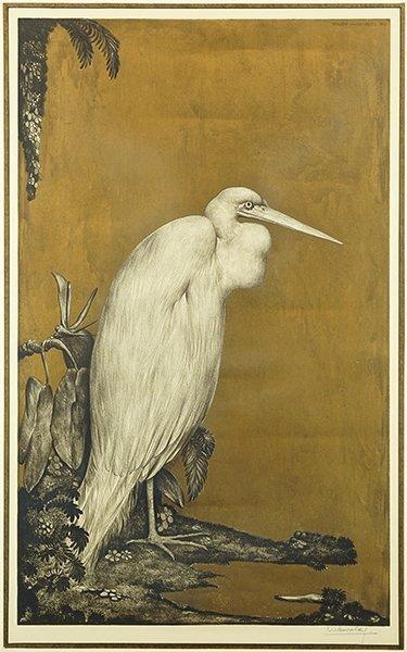 Willem Van Den Berg (Dutch, 1886-1970) Heron.