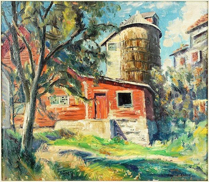 Eugene Speicher (American, 1883-1962) The Red Barn.