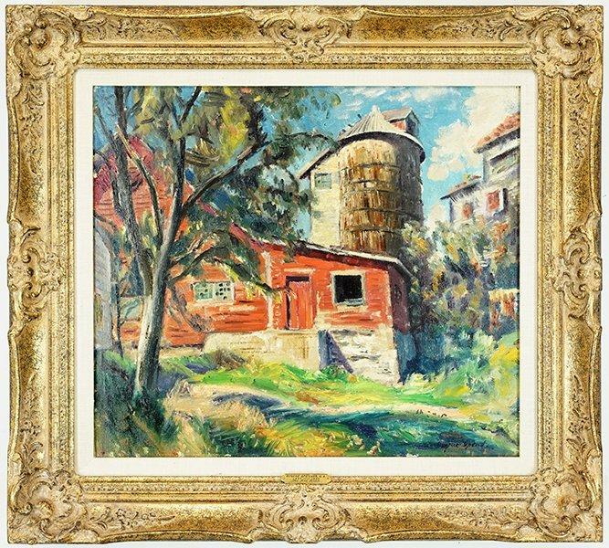 Eugene Speicher (American, 1883-1962) The Red Barn. - 3
