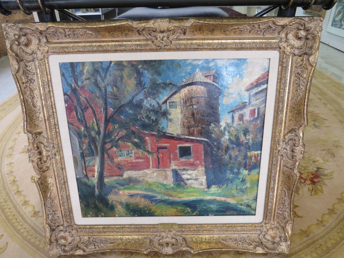 Eugene Speicher (American, 1883-1962) The Red Barn. - 5