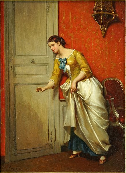 R. Ferell (French, 19th Century) Listening.