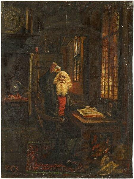 Eugene Meeks (American, 1843-1916) The Alchemist.