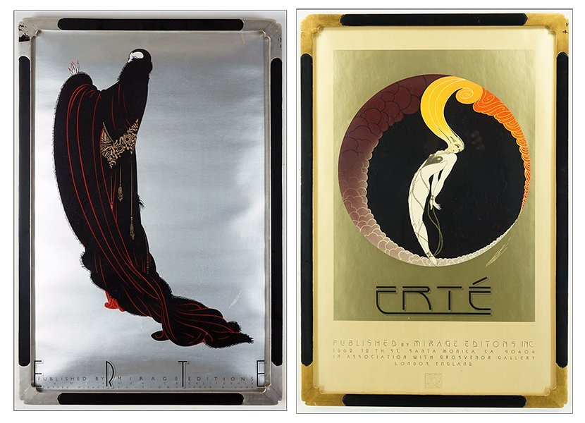 Two Framed Erte Posters.