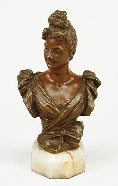 Georges van der Straeten (Belgian, 1856-1928) Bust of a