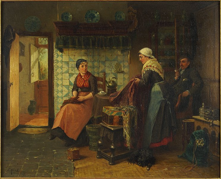 Sipke Kool (Dutch, 1836 - 1902) Fries Interieur.