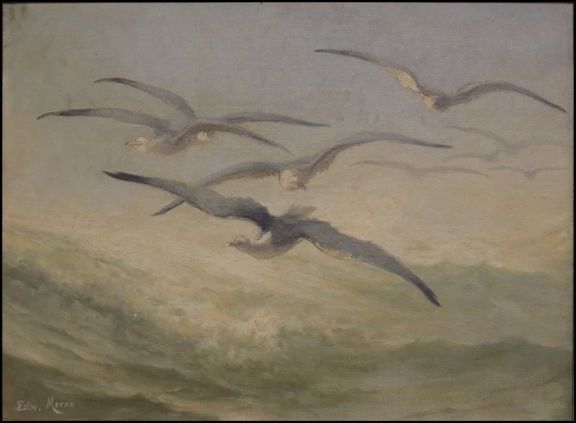 Edward Moran (American, 1829-1901) Birds in Flight.