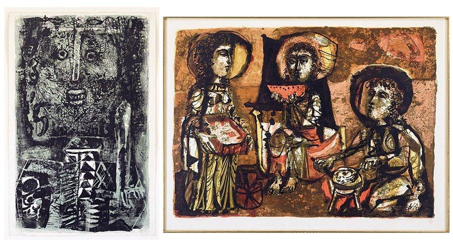 Antoni Clave (Spanish, 1913-2005) Les Trois Maries.